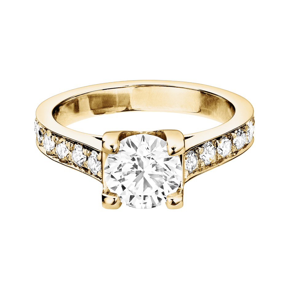 Diamantring Starnberg in Gelbgold mit Brillant