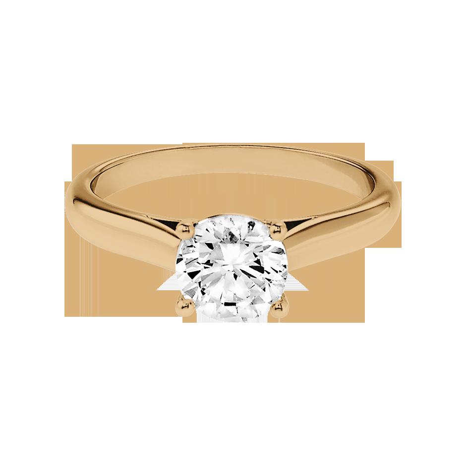 Diamantring Zurich in Rosegold mit Brillant