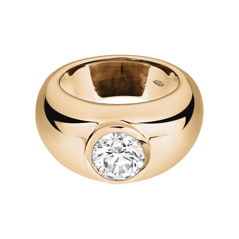 Verlobungsring Lyon in Rosegold mit Brillant